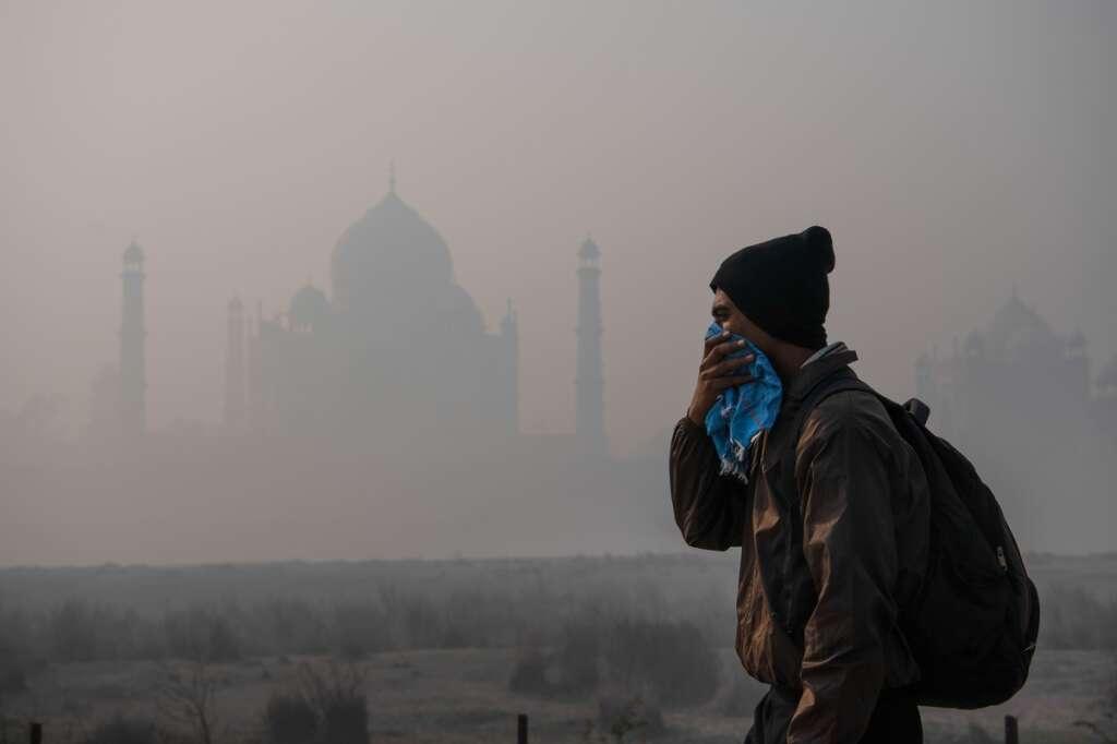 Taj Mahal, Delhi, air pollution, smog, even odd scheme