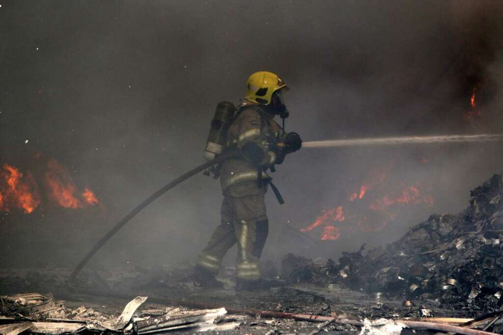 Four warehouses gutted in massive Sharjah fire