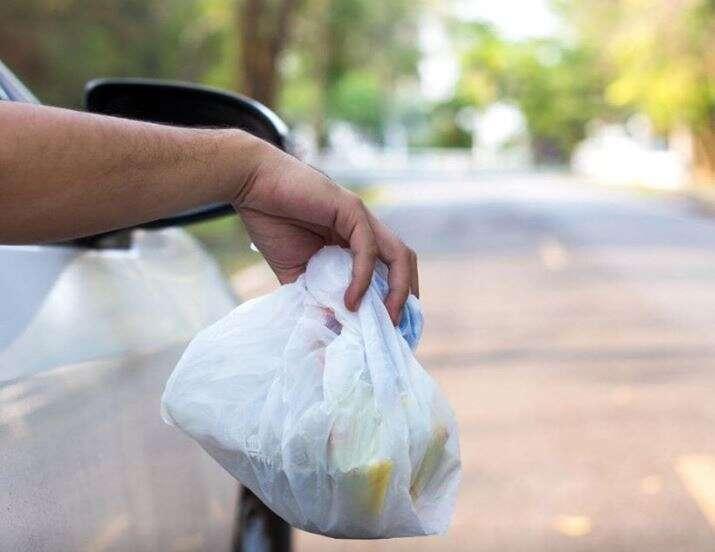 Dh1,000 fine, 6 black points, littering, cars, UAE