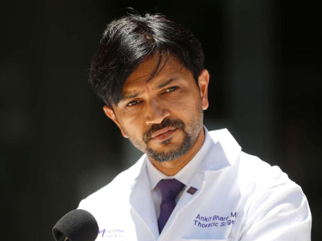 Dr Ankit Bharat, double-lung transplant, Northwestern Memorial Hospital,
