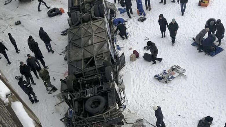 siberia, bus, plunge, frozen, river, russia, dead, 19