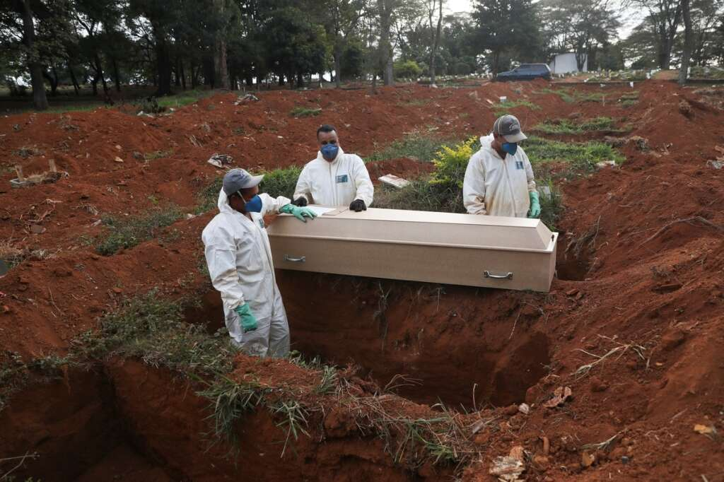Brazil, overtook, Russia, second-highest, coronavirus, infections, worldwide, deaths