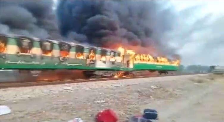 Pakistan, train, fire,Punjab, Pakistan train fire