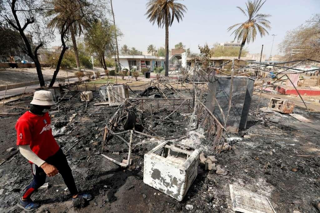 Baghdad, dead, protesters, police, graft