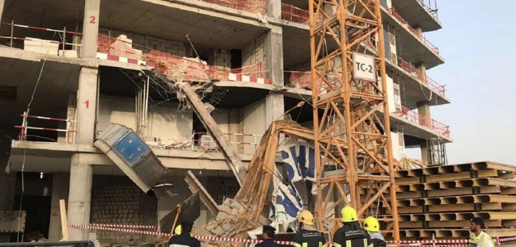 Worker dies in crane collapse at UAE construction site
