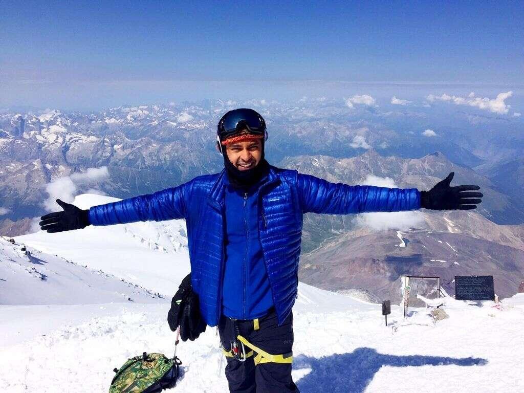 Dubai adventurer scales highest mountain in Europe