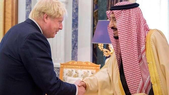 king salman, saudi arabia, boris johnson, uk. phone call, g20, coronavirus, covid-19