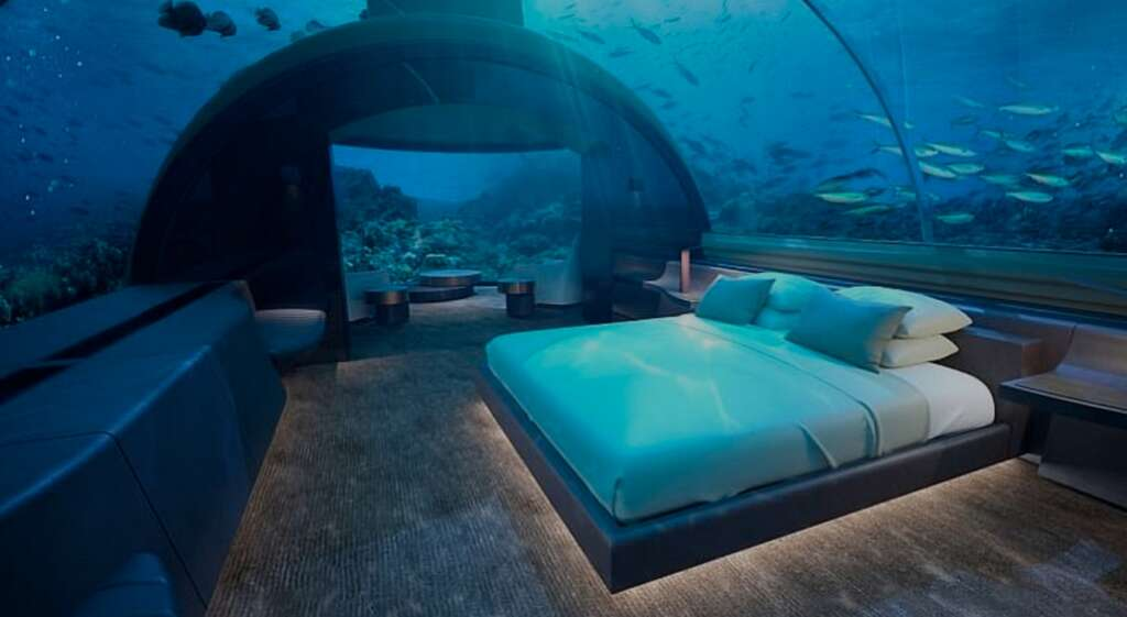 First-ever undersea villa opens at luxury hotel in Maldives