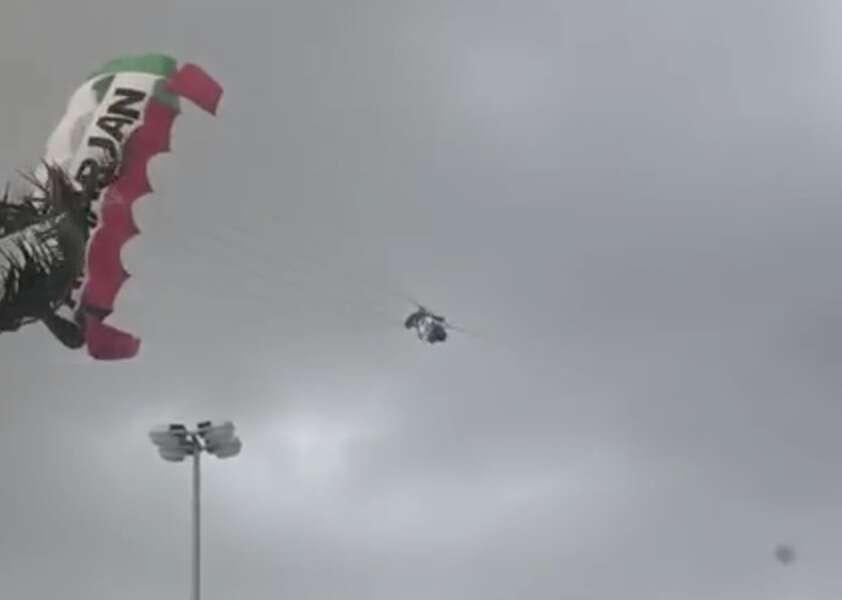 Sharjah parasailing, parachute, six men injured, strong winds, heavy rain