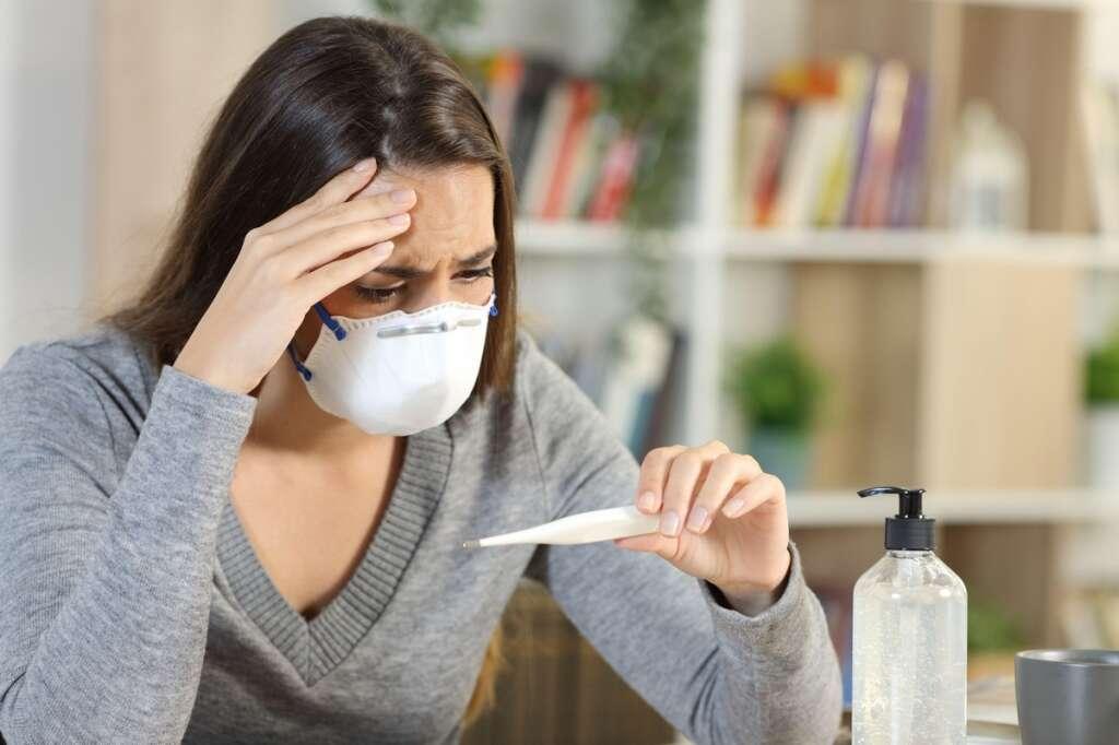 Influenza, Covid-19, symptoms,  Body aches, sore throat, fever, cough, shortness of breath