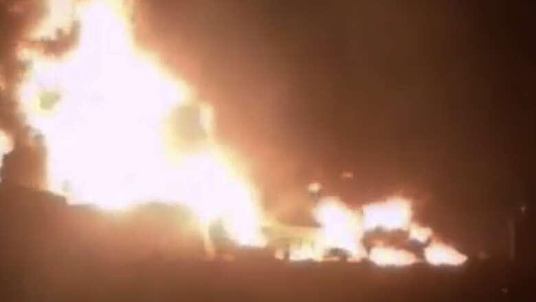 Video: Warehouse gutted in massive Umm Al Quwain fire