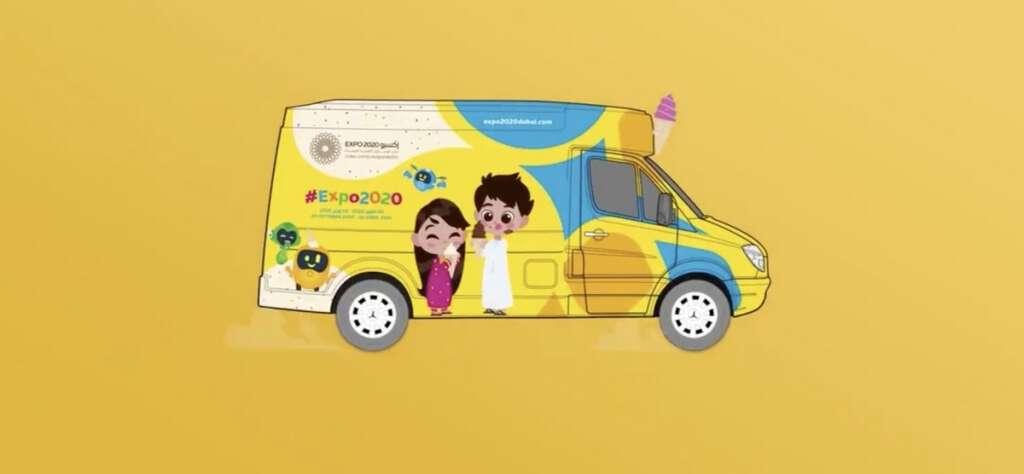 dubai, expo 2020, expo ice cream van, free ice cream, free ice cream in dubai, expo 2020 dubai, ice cream
