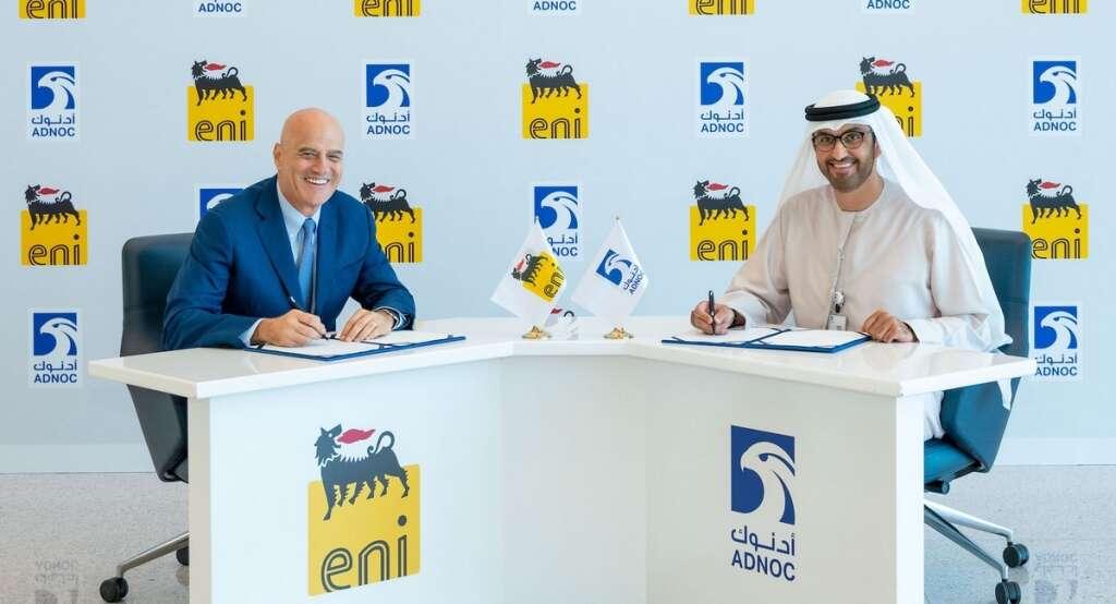 Adnoc and Eni sign strategic framework agreement