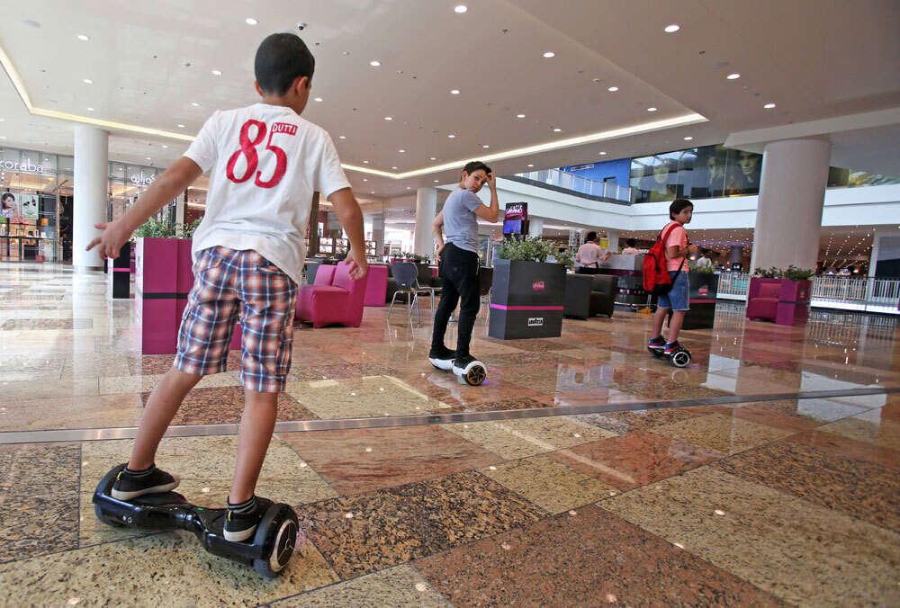 Smart wheels are banned in Dubai malls