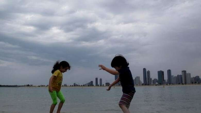 Cloudy weather, rain likely, uae weather