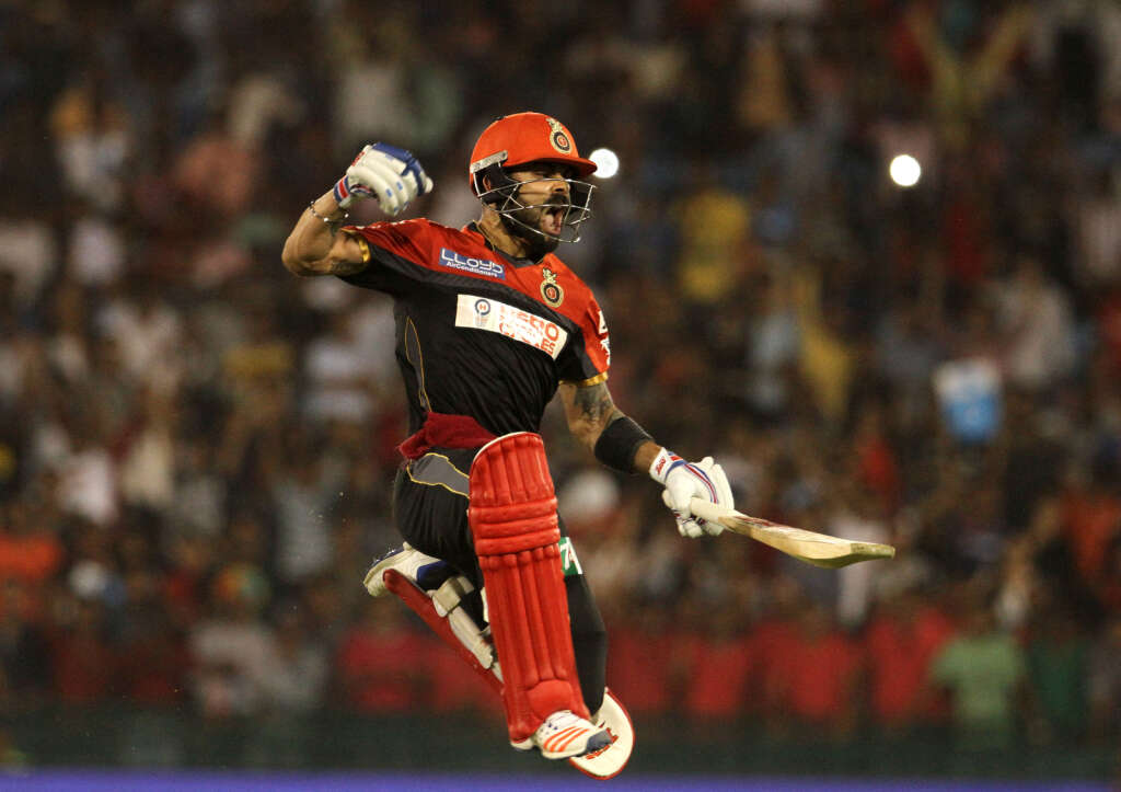 With 919 runs, Bangalore captain Virat Kohli is on the cusp of becoming the first player to score 1,000 runs in an IPL edition.
