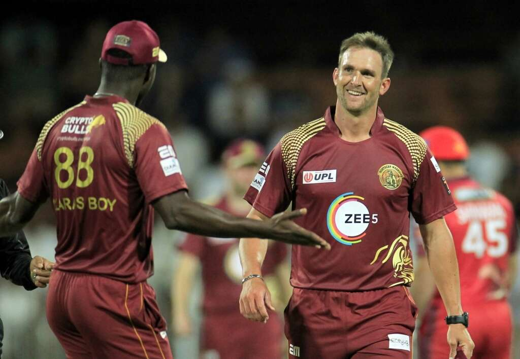 Viljoen reveals reason behind wild celebration after Afridi wicket in T10 final