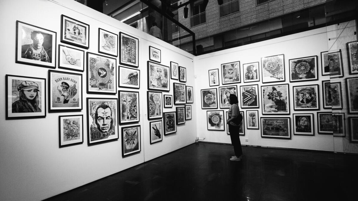 An exhibition at Opera Gallery, Dubai