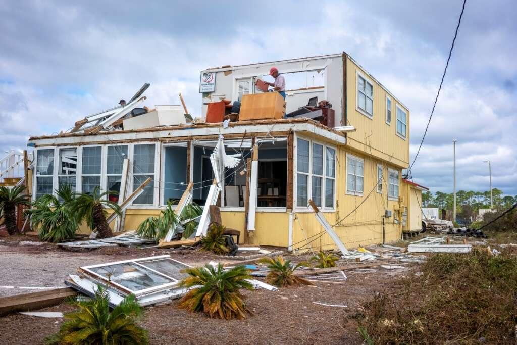 hurricane sally, trail, destruction, us, gulf coast