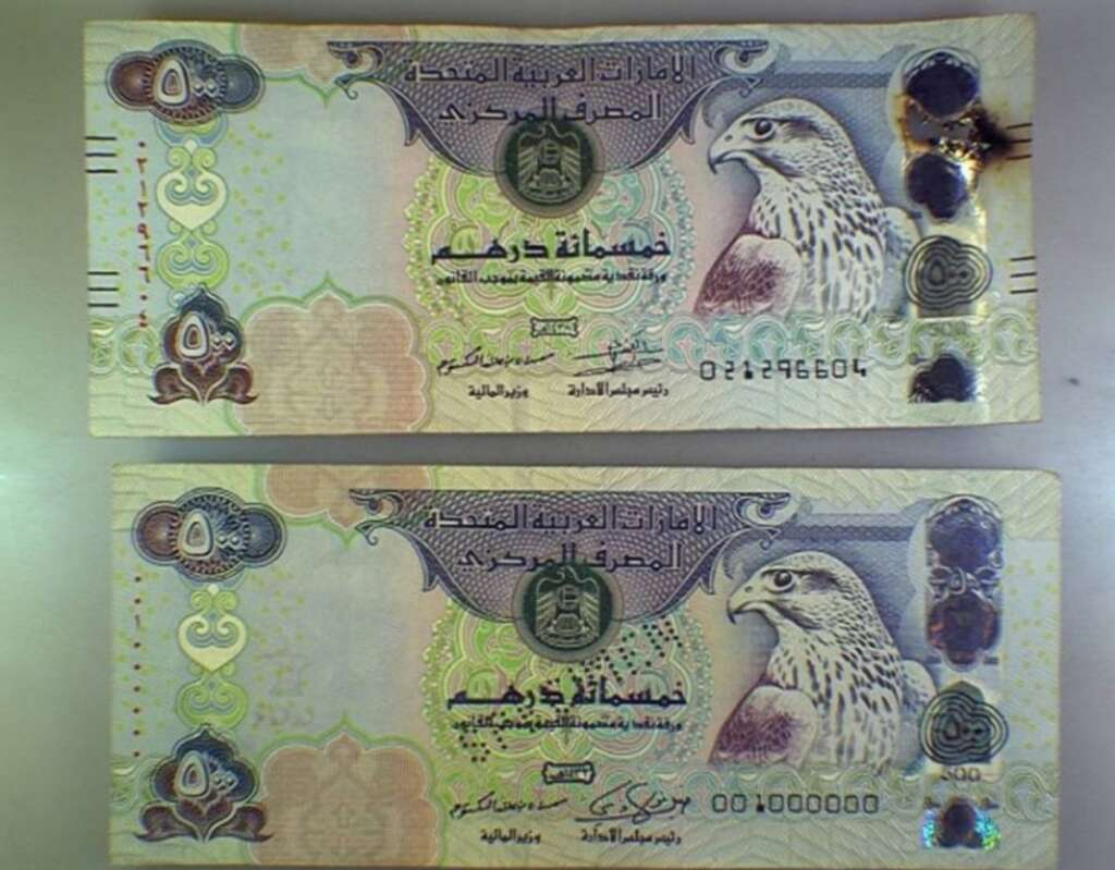 microwaves currency, dirham, Covid scare