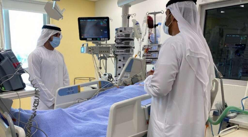 Sheikh Hamdan, visited, firefighters, injured, fire, Dubai Investment Park, warehouses