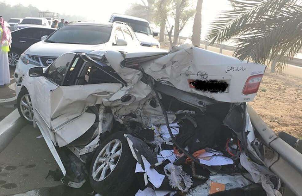 Dense fog leads to 25-vehicle pile-up in Abu Dhabi