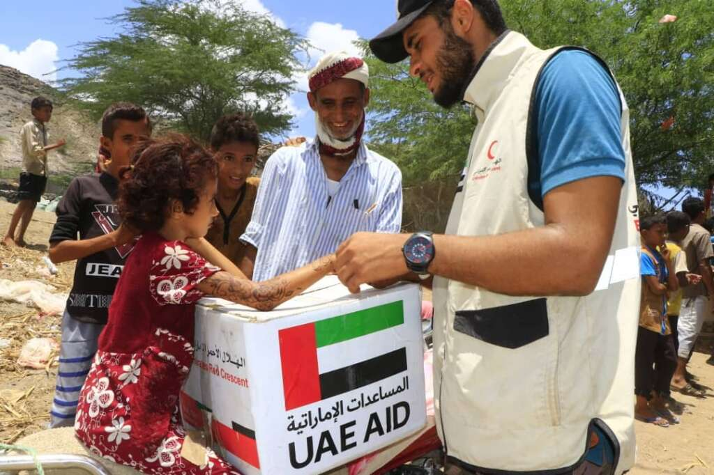 UAE, Emirates Red Crescent, launched, annual, charitable, Eid Al Adha, clothing, project, food aid, Yemen