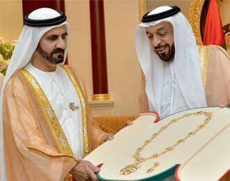 Khalifa honours Mohammed, Sultan