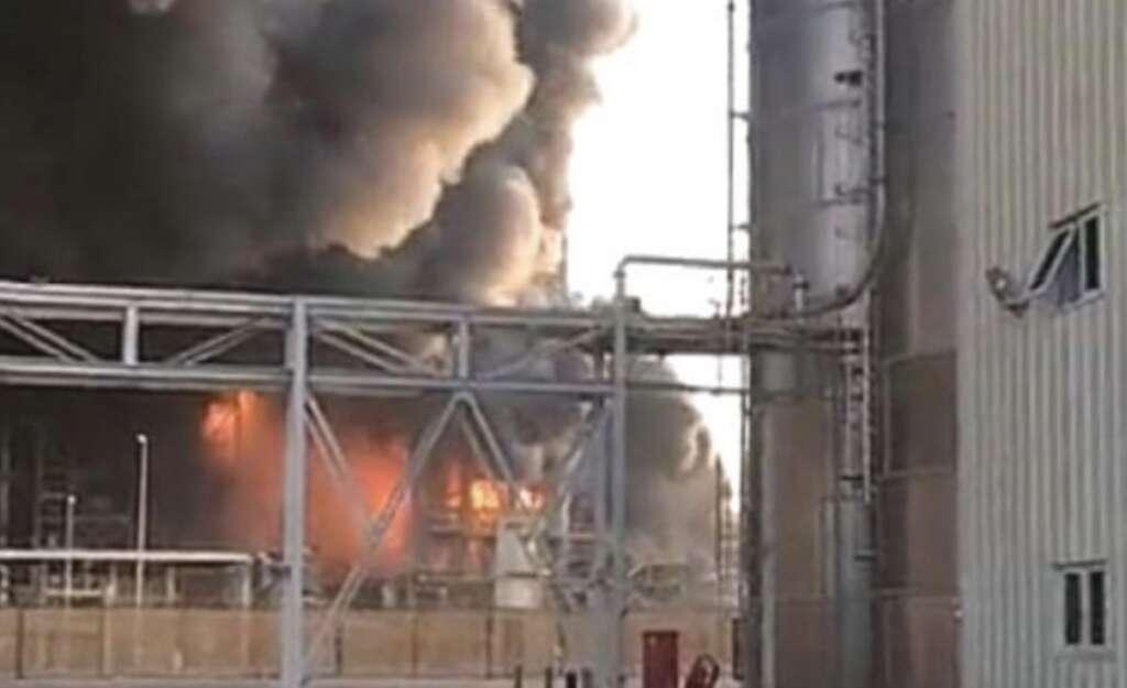 Video: Fire at Saudi petrochemical factory kills 1, injures
