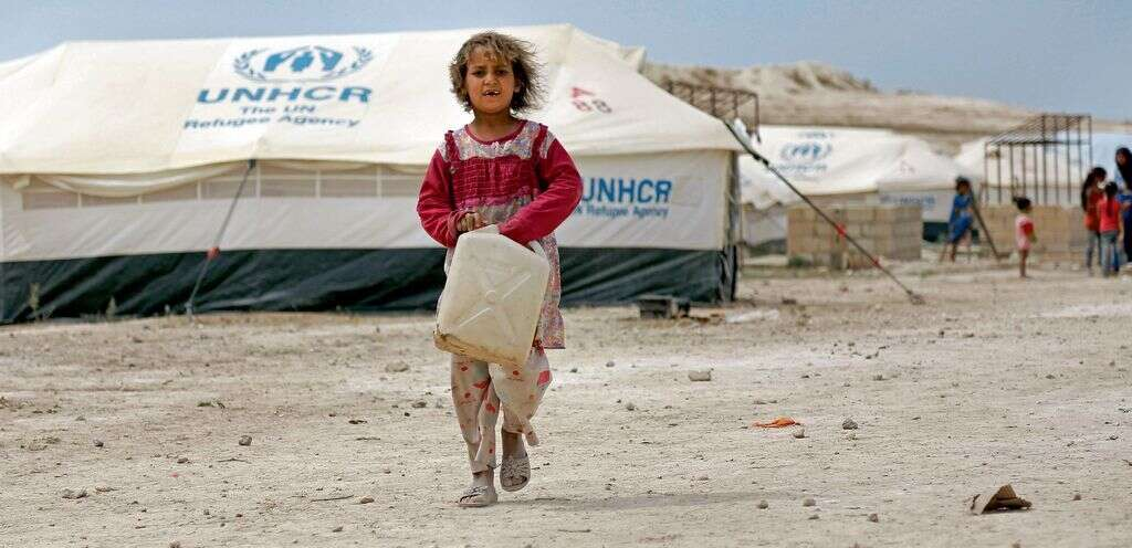 Being there at the camps, with the refugees