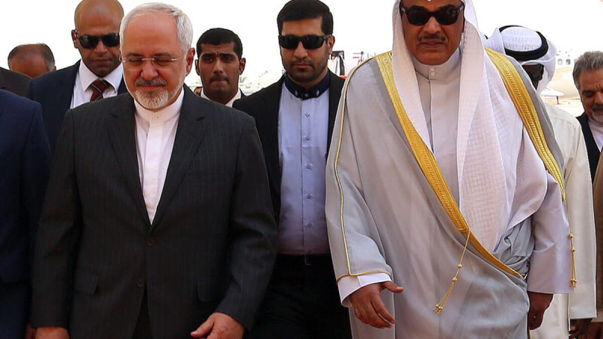 Irans Zarif visits Kuwait, calls for united effort to fight terrorism