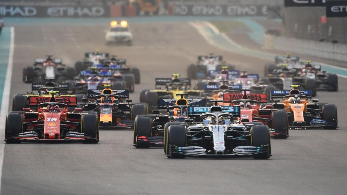 Action from the Formula One Etihad Airways Abu Dhabi Grand Prix at the Yas Marina Circuit in 2019. — KT file