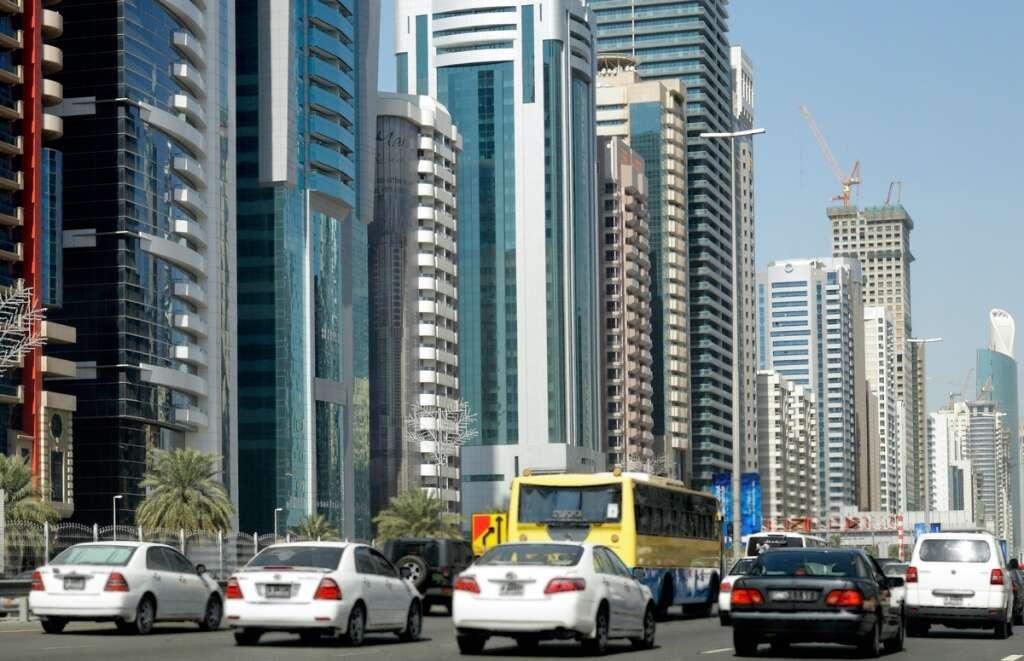 UAE traffic, Accident, Dubai, Sheikh Zayed Road