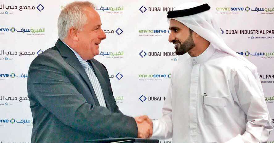 Stuart Fleming and Abdulla Belhoul say the Dh120-million plant will recycle the entire range of end-of-life electrical and electronic equipment.