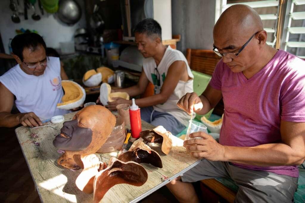 Rene Abelardo, special effects, prosthetics, horror-inspired, masks, coronavirus, Covid-19, Philippines, Filipino