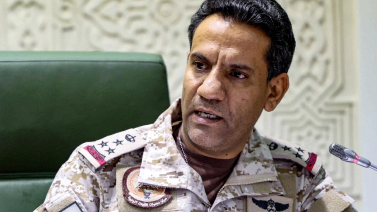 Spokesman of the Saudi-led military coalition in Yemen Colonel Turki Al Maliki. — AFP file