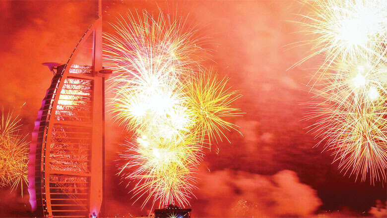 Burj Al Arab's stunning 12-minute-long New Year fireworks light up Dubai