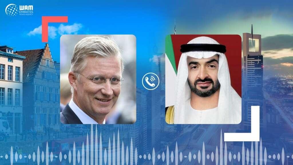 Sheikh Mohamed, King Philippe of Belgium, discuss, coronavirus, Covid-19, countermeasures, regional, international, issues, Abu Dhabi, UAE