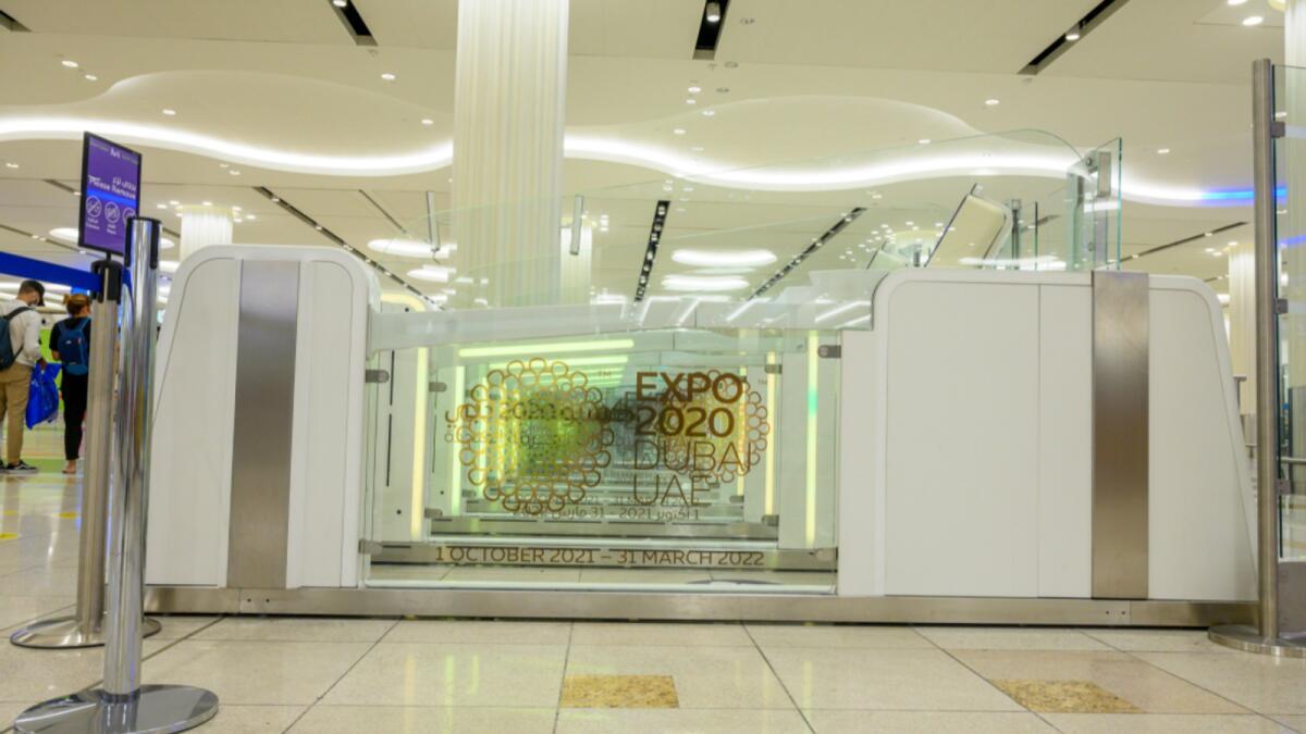 Look: Dubai airport smart gates get adorned with Expo 2020 logo