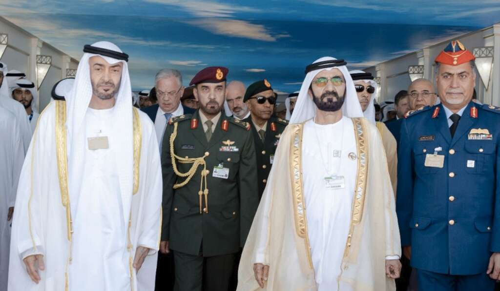 Dubai Airshow 2019, UAE leaders, ubai World Central.
