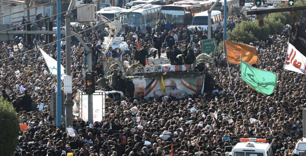 Huge crowds in Iran for Soleimani's funeral, daughter warns US of dark day