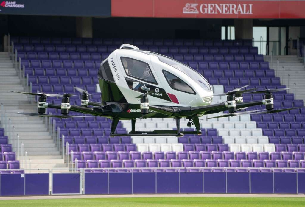 Pilot-less air taxi takes off in Vienna