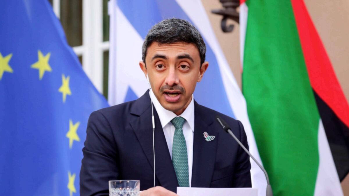 heikh Abdullah bin Zayed Al Nahyan. — AFP
