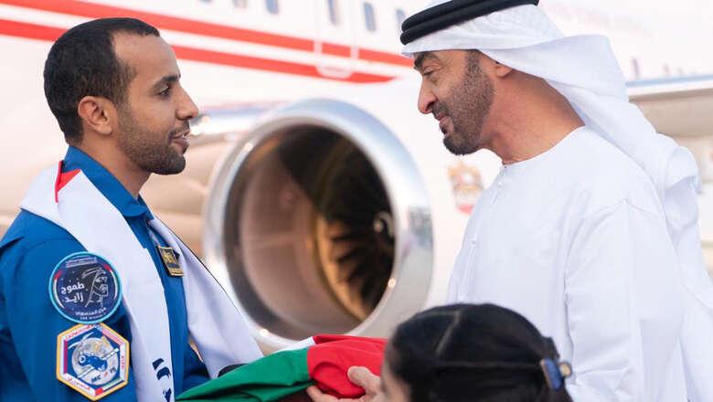 UAE astronaut, Hazzaa AlMansoori, Hazzaa, coming home, heros welcome,