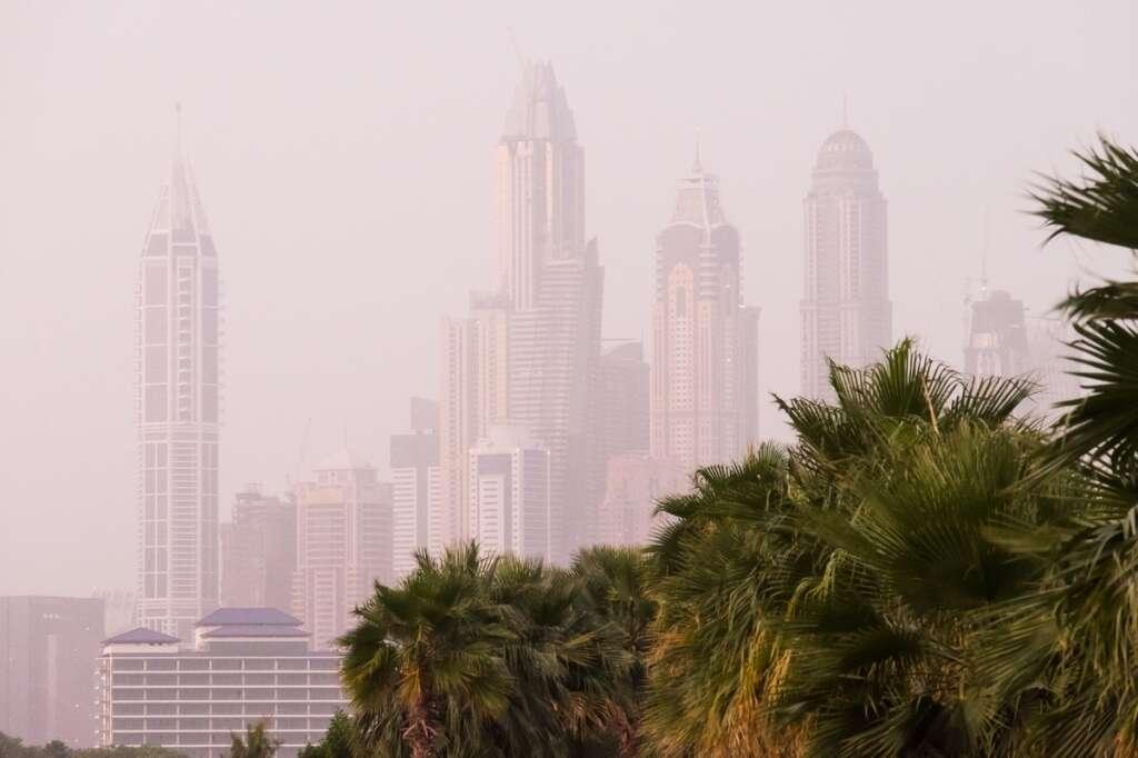 Dusty, partly cloudy, day, uae, weather, national center of meteorology, dubai, abu dhabi