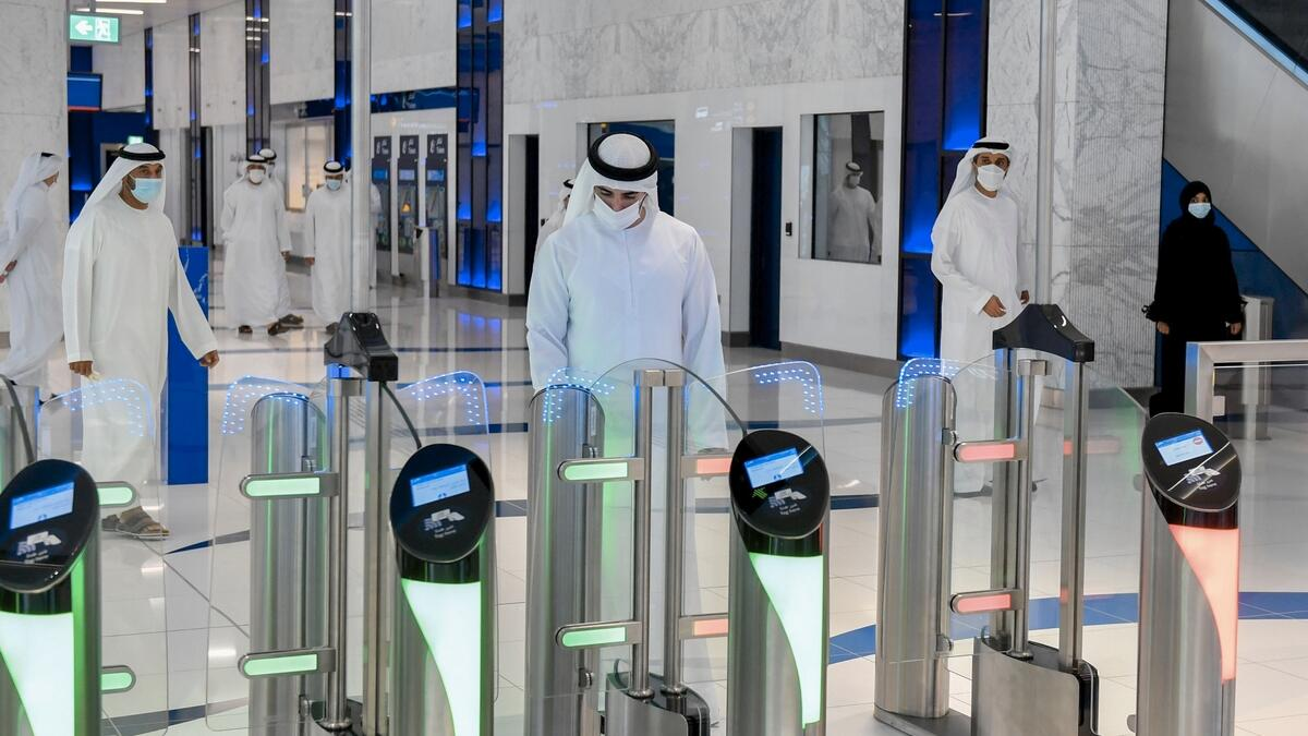 Sheikh Hamdan was also briefed on the Dh11 billion Route 2020 project, linking seven stations, extends 15km on the Red Line from the Jebel Ali Metro Station to the Expo 2020 Station.