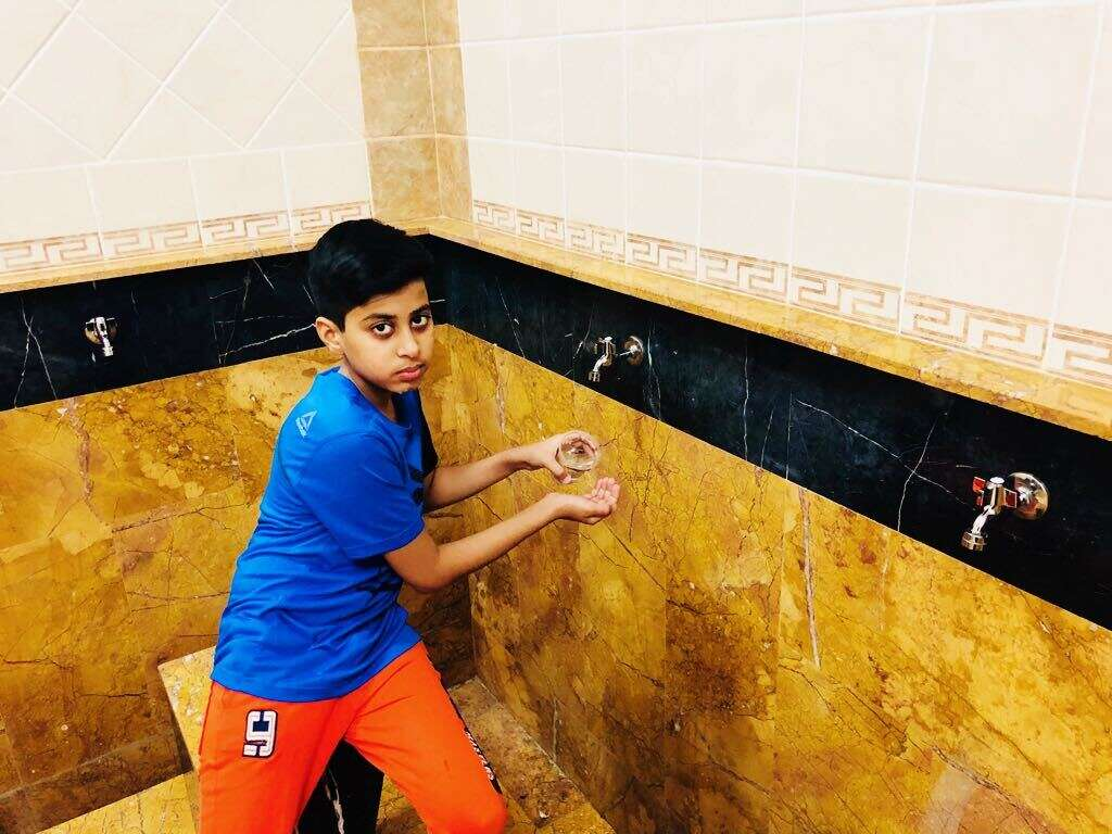 10-year-old boy saves 900 litres of water a month at mosque