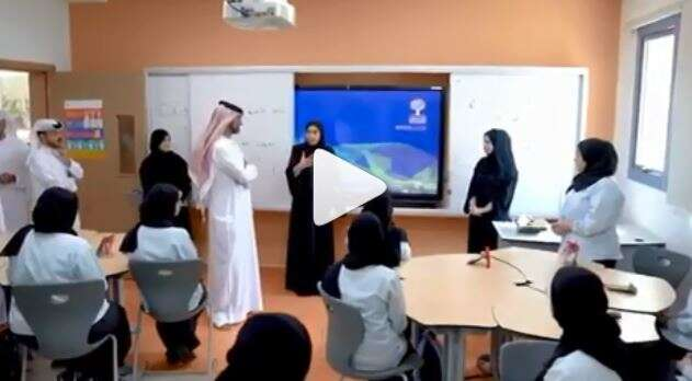 Video: Ajman Crown Prince visits UAE students on first day