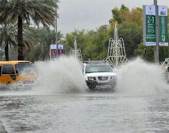 Heavy rains across Abu Dhabi Emirate