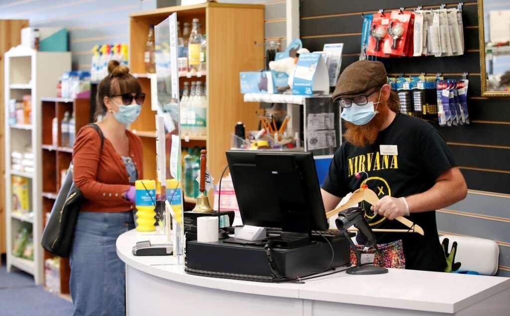 shoppers, england, wear, face coverings, shops, supermarkets, july 24, curb, spread, coronavirus, covid-19, boris johnson